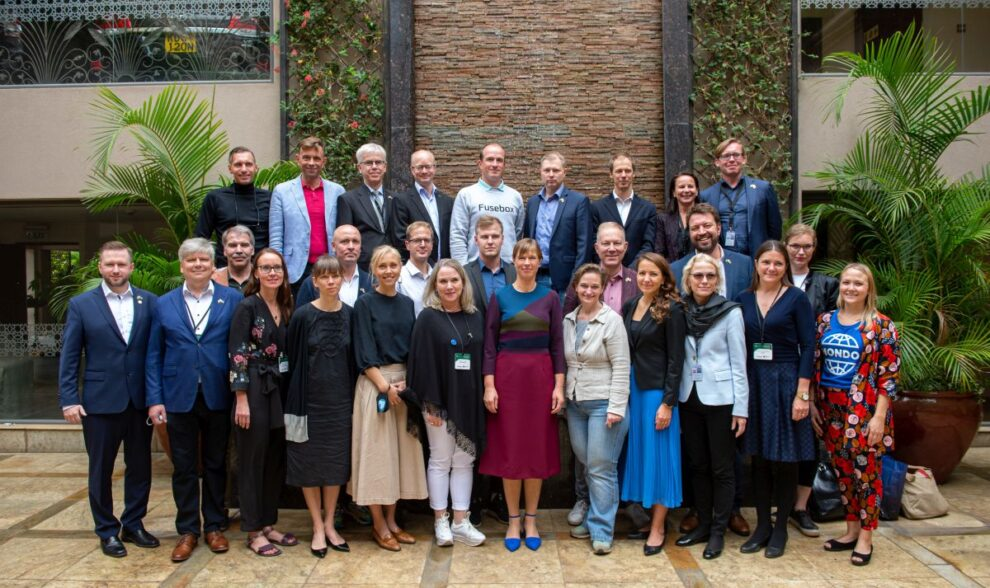 ITL members with Estonian President on official visit to Kenya